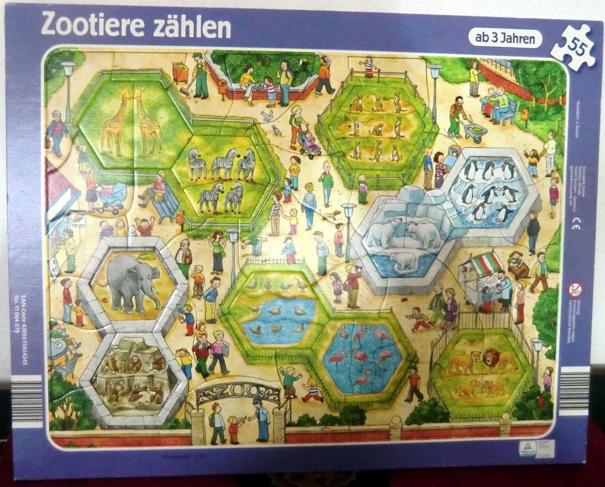 Tauschartikel: Zootiere zählen Rahmen Puzzle 55 Teile aus der ...