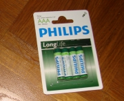 Philips Batterien LongLife 4 mal AAA