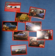 10x Cars 2 Sticker fürs Panini Album