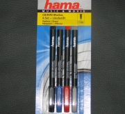 Hama CD/DVD Marker Music+Movie 4er Set