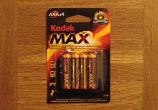 4 Kodak Max Alkaline Batterien Micro AAA