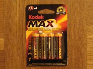 4 Kodak Max Alkaline Batterien AA Mignon