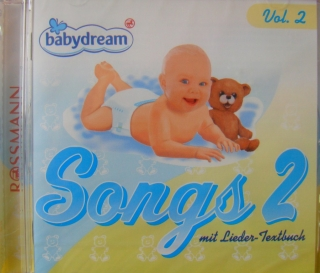 Babydream Songs CD 2 mit Lieder-Textbuch