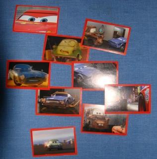 10x Cars 2 Sticker fürs Panini Album