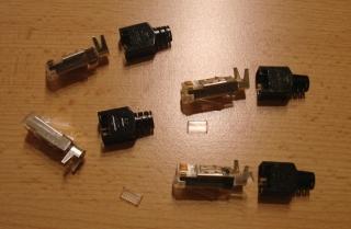 Hirose Netzwerkstecker 4 Stück Kat5 RJ45