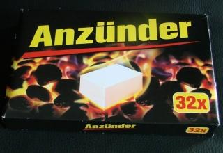 Grillanzünder 32 Stück Kohle Anzünder