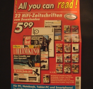 All you can read - 22 HiFi Zeitschriften