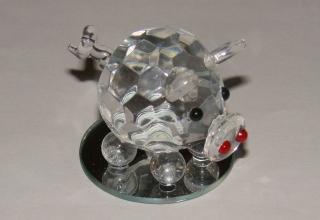 Funkelndes Schwein Glas Kristall Kunst
