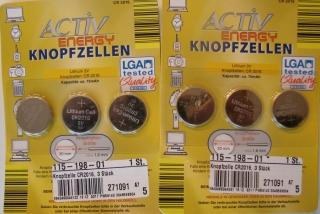Lithium 3V CR2016 Knopfzellen 6 Stück