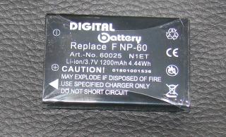 Akku Fuji NP-60 Finepix TRAVELLER