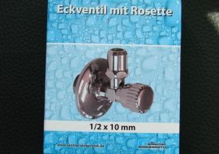 Armatur Eckventil mit Rosette 10mm Bad