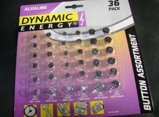 Alkaline Knopfzellen Set 36er Sortiment