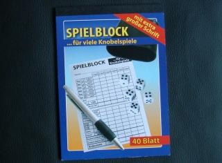 Spielblock für Knobelspiele / Kniffel