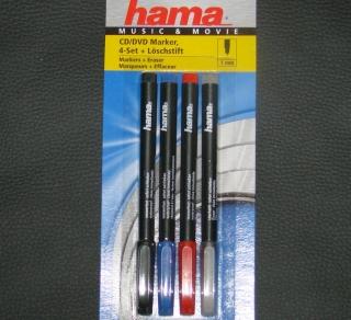 Hama CD/DVD Marker Music+Movie 4er Set