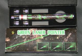 Green Grün Laserpointer mit 5 Aufsätzen