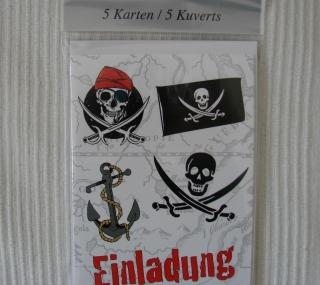 Piraten Einladungen mit Kuverts - Karten