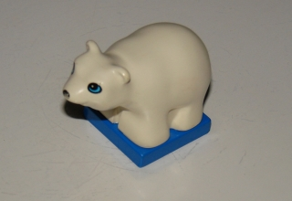 Lego Duplo kleiner süßer Eisbär Zootiere