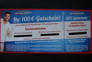 Ab-In-den-Urlaub.de Gutschein 100 Euro