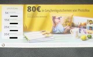Gutscheine Fotos PhotoBox bis 80 €