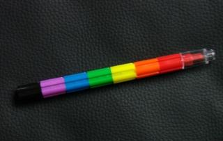 1 Bunter Bunterstift mit vielen Farben