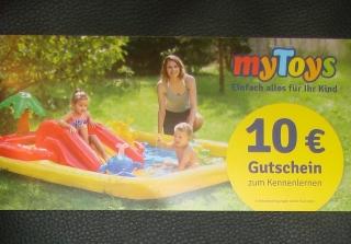 MyToys Gutschein 10 Euro Spielwaren