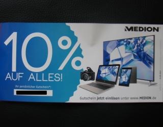 Medion Shop Gutschein 10% auf Alles