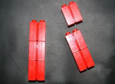 Lego Duplo Ersatzteile Steine mit Kerbe