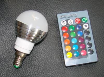 stylische 3W LED RGB Glühlampe mit IR