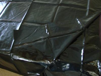 Lacklaken PVC schwarz Öl Lack
