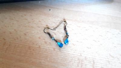 Ohrringe blaue Steinchen