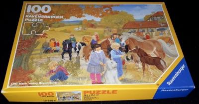 Puzzle Ravensburger 100 Teile Ponykamp